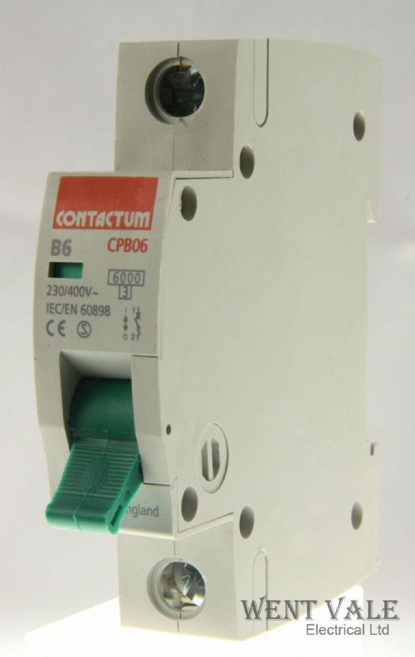 Contactum CP Range - CPB06-B6/1 - 6a Type B Single Pole MCB Used